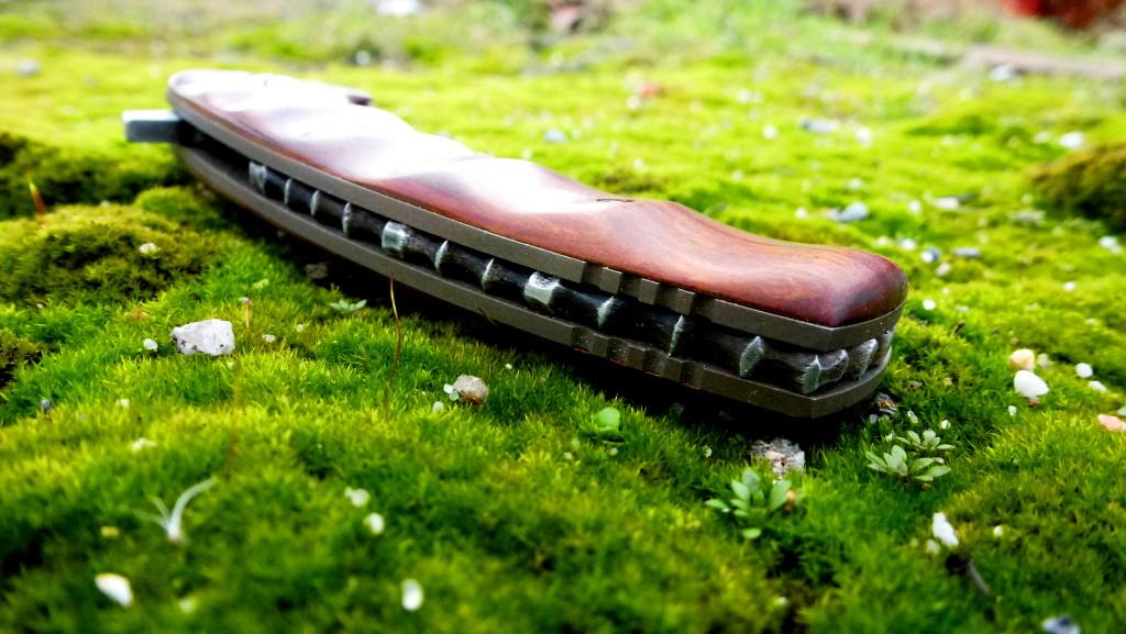 Kyre Samurai linerlock with Brya Ebenus scales